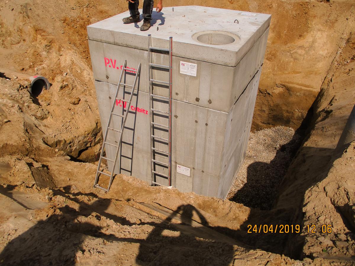 Bild 4 - Abschluss der Gruben mit Sandfang